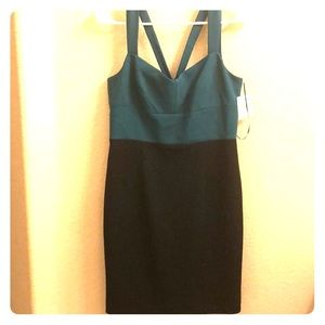 CeCe Turquoise & Black Dress